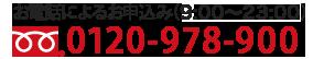 お電話によるお申込み(10:00~22:00) 0120-978-900
