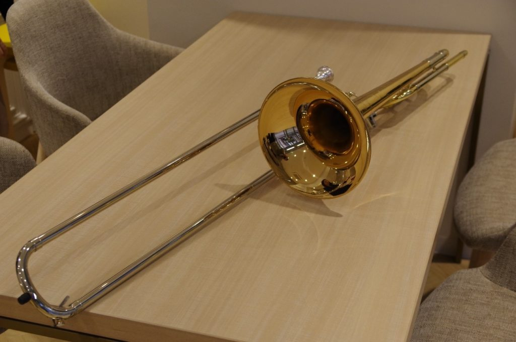 EYS音楽教室に入会すると無料でもらえるトロンボーン