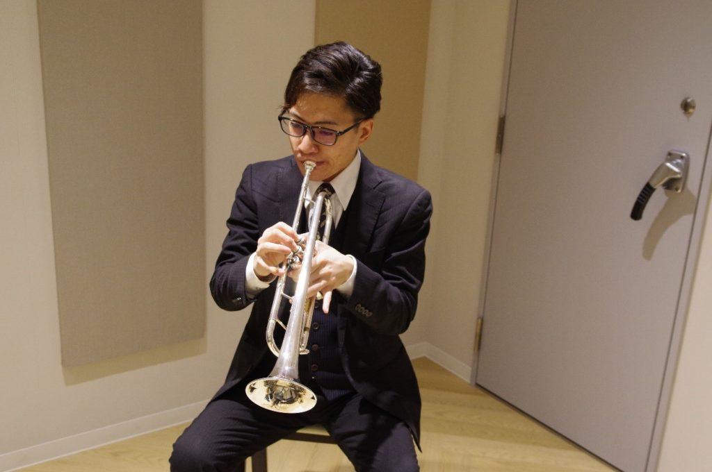 最後は松川先生の素晴らしいトランペット演奏を見せていただきました