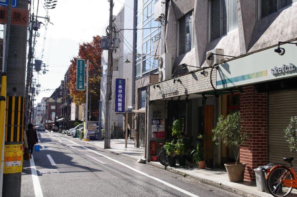 EYS音楽教室京都スタジオ近くの風景