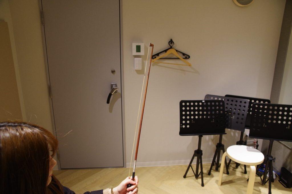 バイオリンの弓の調整