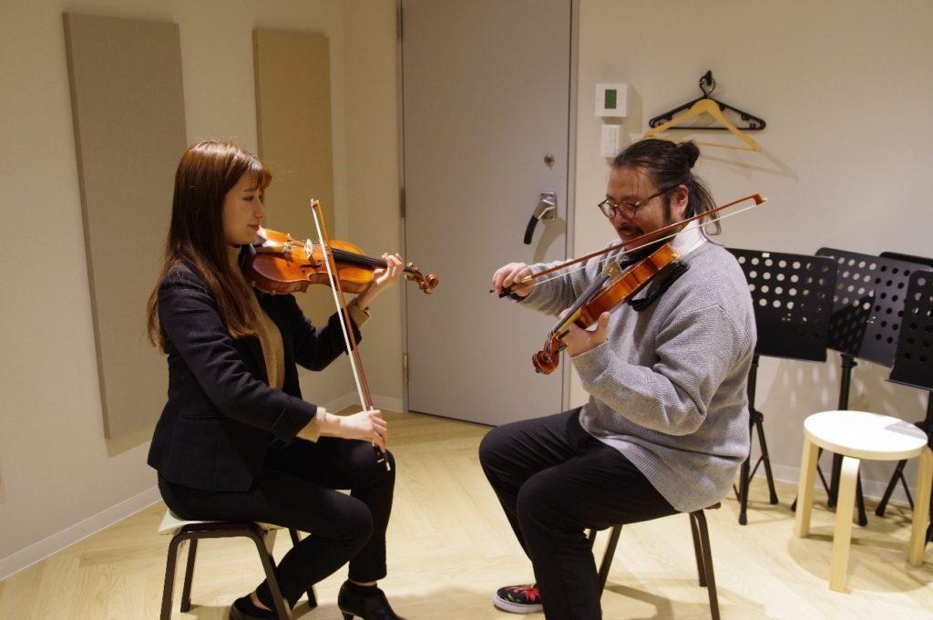 初めてなのにバイオリンの綺麗な音色が出ました!