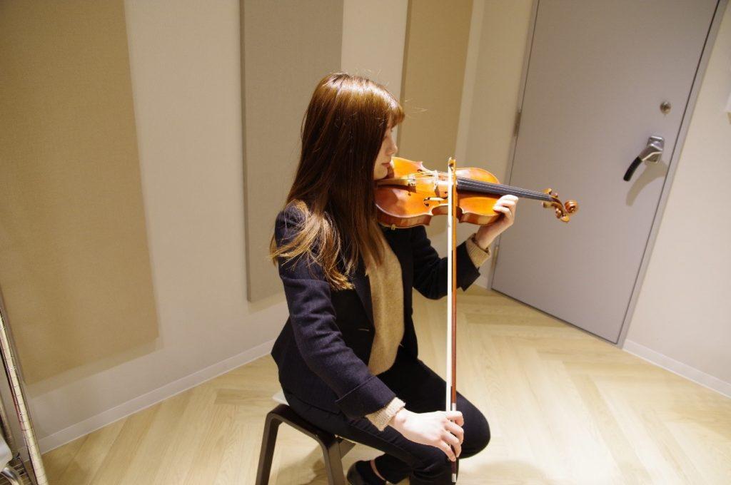 最後に先生がバイオリンのステキな音色を!